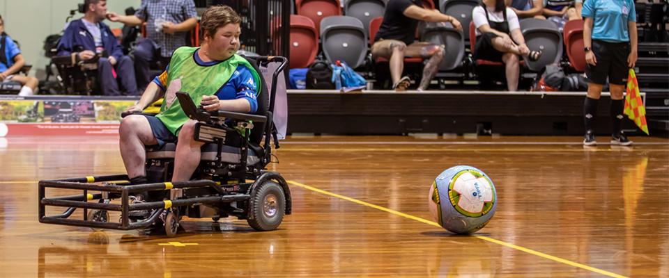 Shaun Mott preparing for a pass